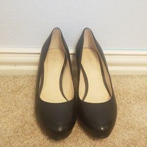 Cole Haan Nike Air Black Leather Heels